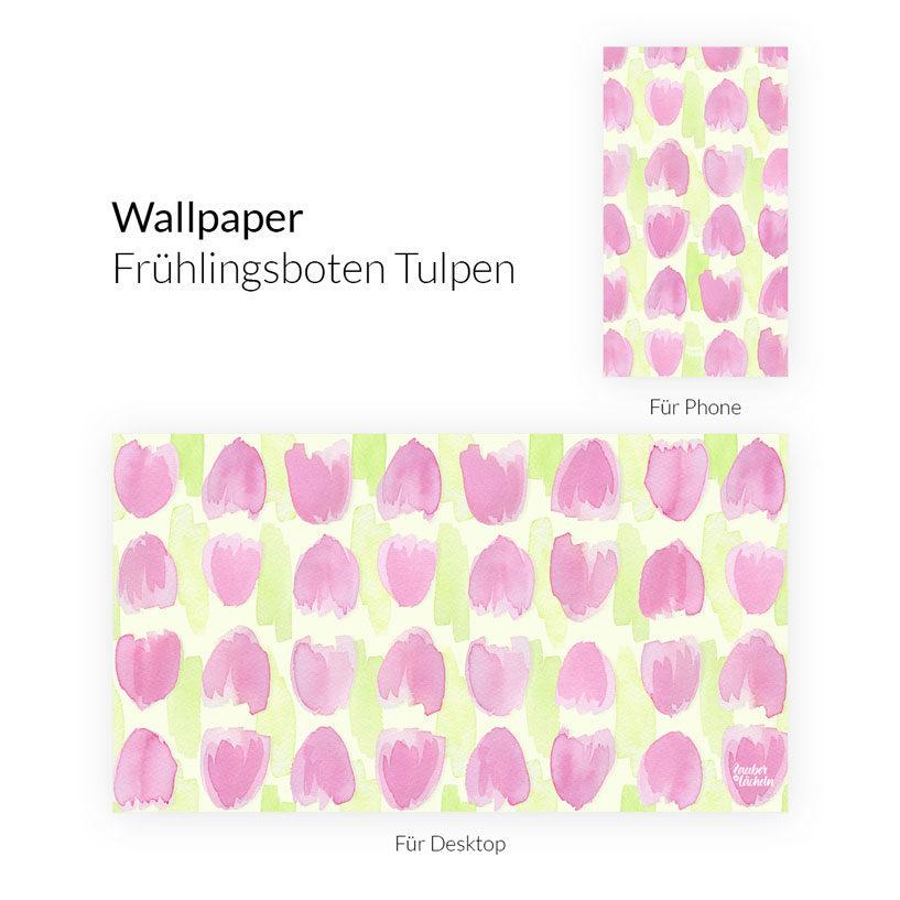 Wallpaper Frühlingsboten Tulpen Phone & Desktop