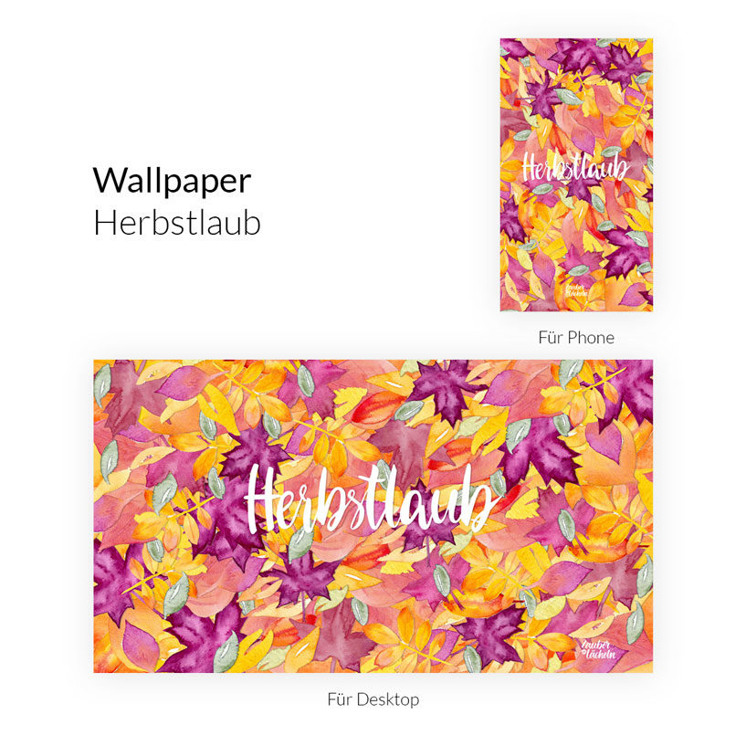 Kostenloses Wallpaper Herbstlaub Phone & Desktop