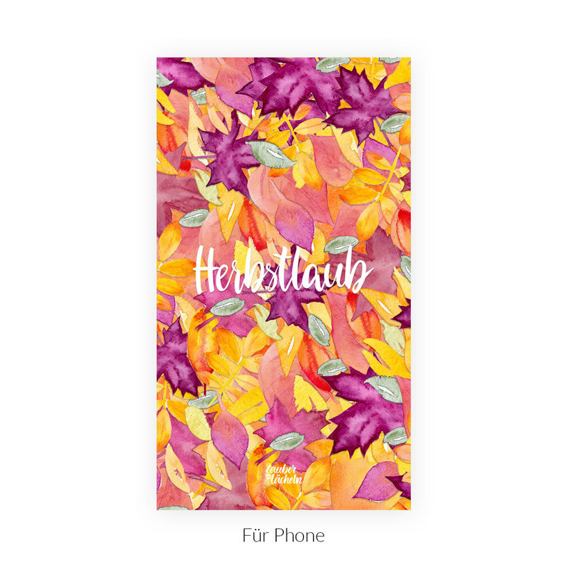 Kostenloses Wallpaper Herbstlaub Phone