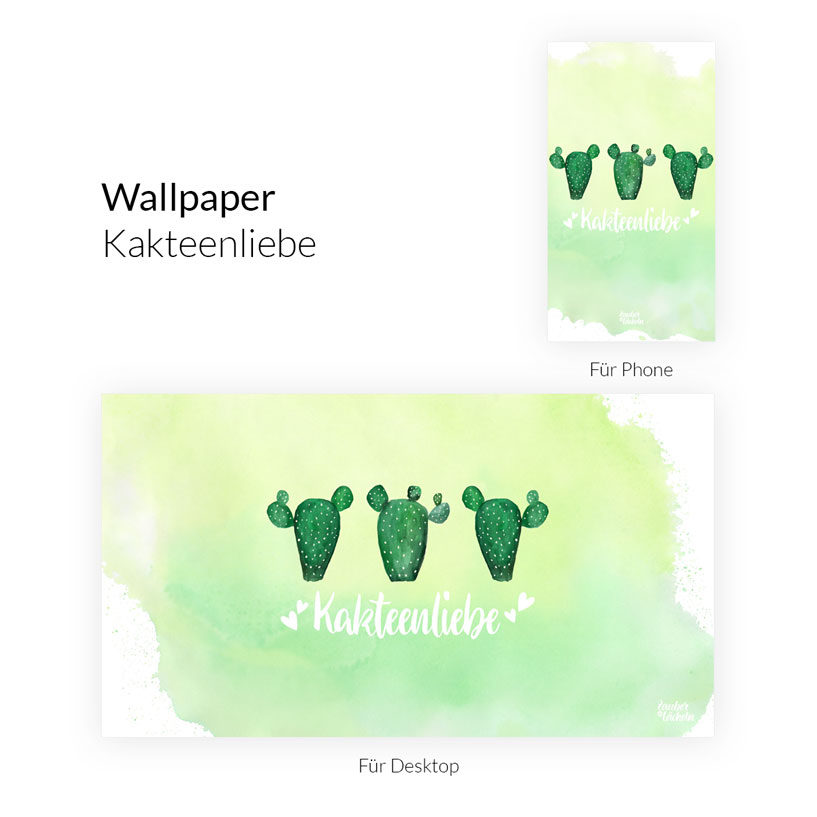 Wallpaper Kakteenliebe Dekstop & Phone