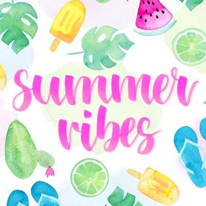 Kostenloses Wallpaper Summer Vibes Aquarell