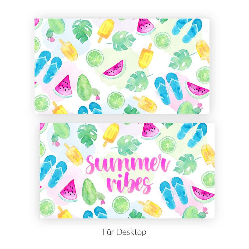 Wallpaper Summer Vibes Aquarell Desktop