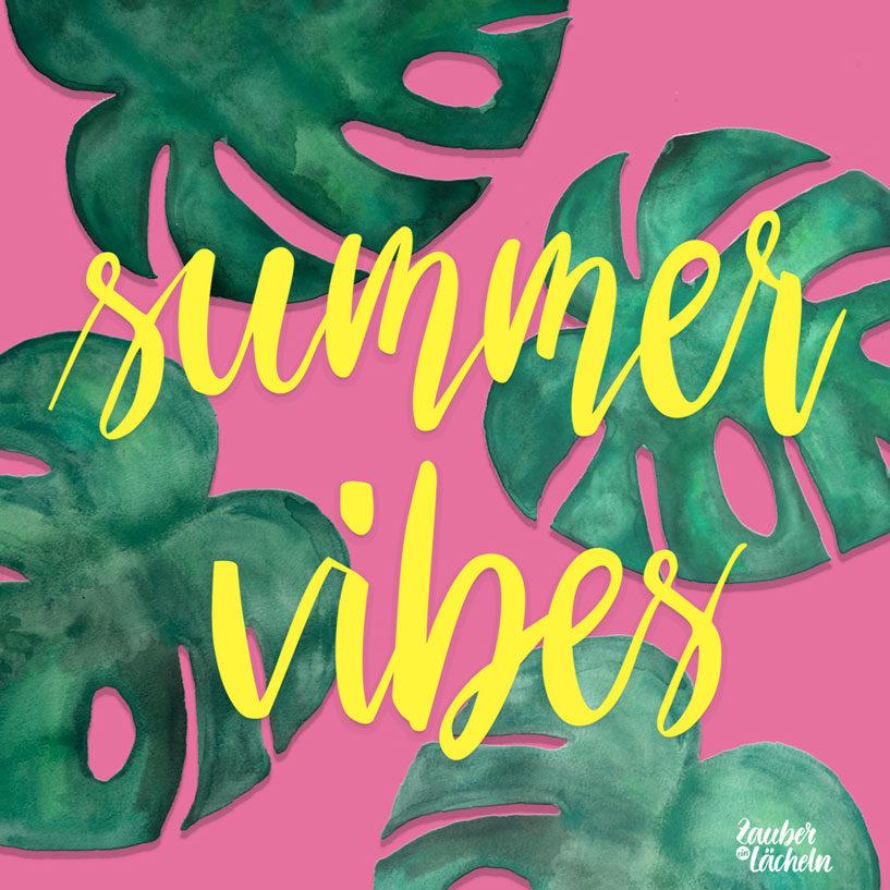 Wallpaper kostenlos Summer Vibes Monstera