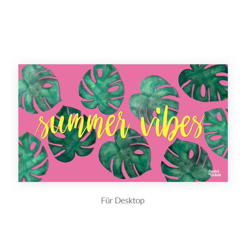 Wallpaper kostenlos Summer Vibes Monstera Desktop