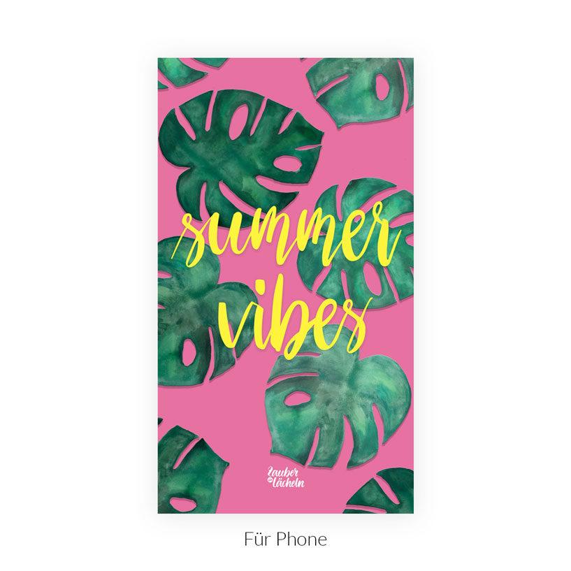 Wallpaper kostenlos Summer Vibes Monstera Phone