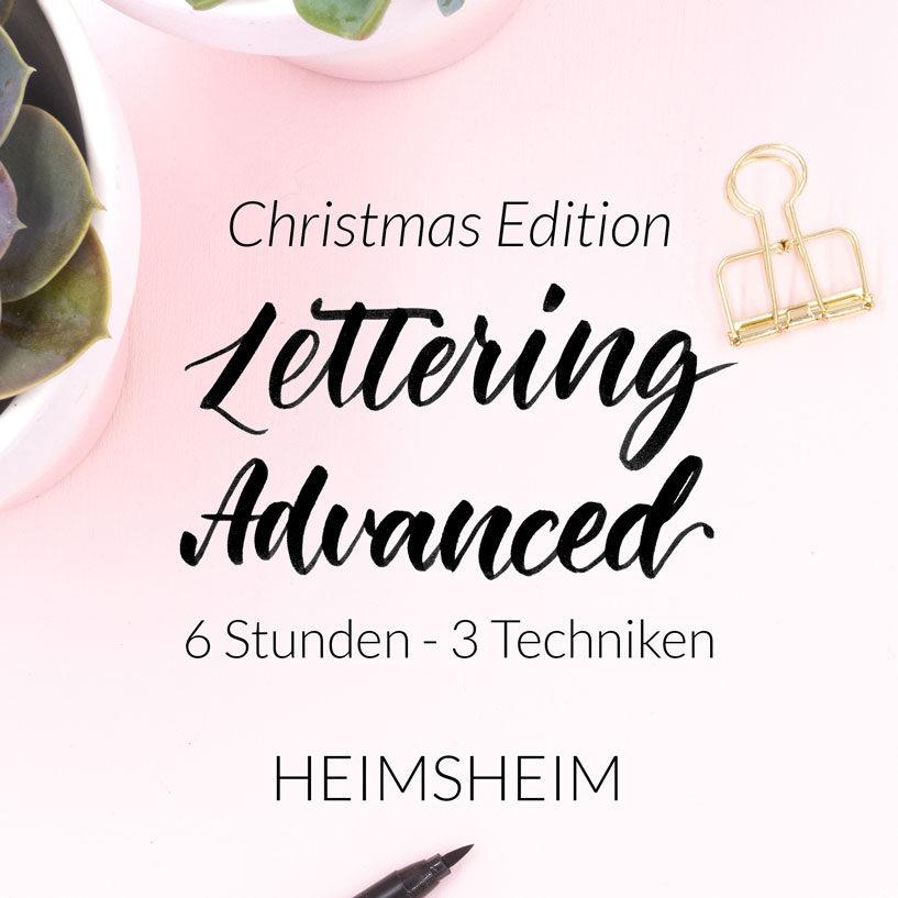 Lettering Advanced Workshop Christmas Edition in Heimsheim