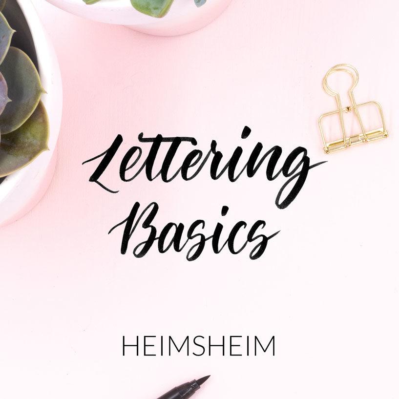 Lettering Basics Workshops in Heimsheim von Zauber ein Lächeln