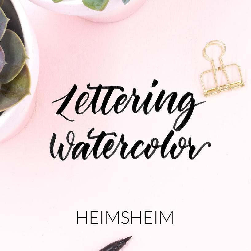 Lettering Watercolor Workshop von Zauber ein Lächeln