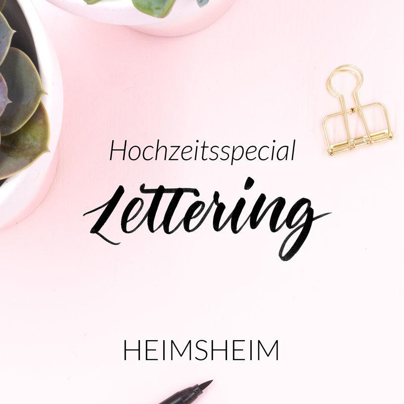 Lettering Workshop Hochzeitsspecial