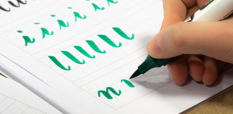 Brushlettering Übungen Lettering Basics Kompaktworkshop