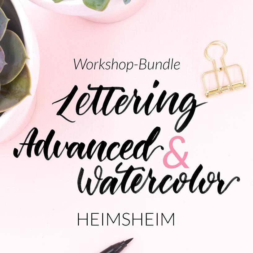 Workshop-Bundle Lettering Advanced & Lettering Basics Workshop von Zauber ein Lächeln