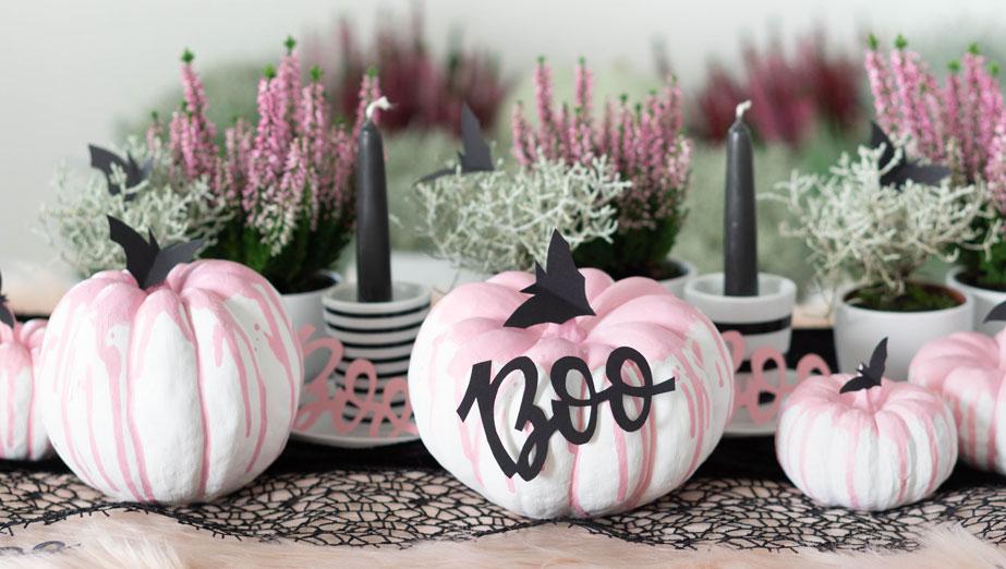 Pink Halloween Deko Basteln Schaurig Schone Kurbis Deko
