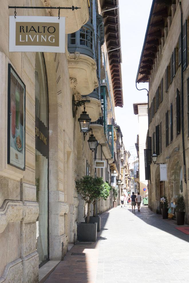 C. Sant Felieu in Palma de Mallorca mit Rialto Living Concept Store