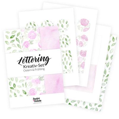 Lettering & Bastelset Frühling & Ostern