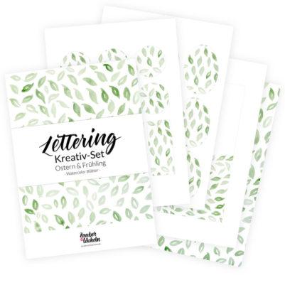 Lettering Vorlagen - Lettering Kreativ Set Frühling & Ostern - Blätter